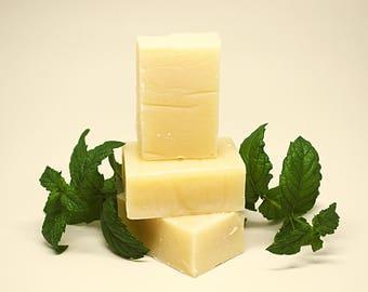 Spearmint Rosemary Soap, Herbal Soap, Spearmint Soap, Bee Mindful Minty Soap, Spearmint Artisan Soap, Rosemary Soap, Herbal Mint Soap,
