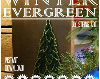 String Art Pattern Set - Winter Evergreen Trees