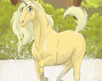 Special Edition Dragon Calling Character Postcard (Design 2, Ubi the Unicorn)