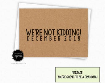 We're Not Kidding! You're Going to Be a Dad | Daddy | Father | Grandpa | Grandma | Grandparent | Great Grandparent | Aunt | Uncle