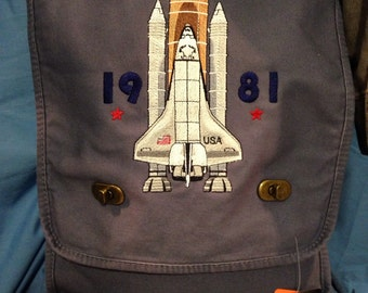 Space Shuttle embroidered bag