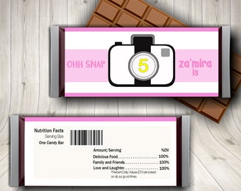 Oh Snap, Oh Snap Birthday, Candy Bar Wrapper, Camera Theme Birthday, Selfie Theme Party Favors, Teen Party, Sleepover, Teen Birthday