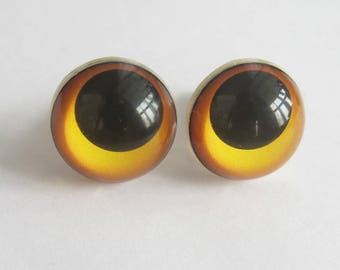 1 Pair Bear Eyes, Teddy Bear Eyes 15 and 18 mm, Safety Eyes, Doll Eyes, Craft Eyes, Toy Eyes, Plastic Eyes, Plush Eyes