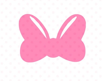 Minnie Mouse bow svg, minnie mouse cute bow svg and png instant download, minnie bow svg for cricut and silhouette