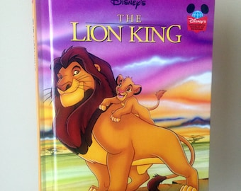 1994 Disney's The Lion King - Printed in 1994 - Disney's Wonderful World of Reading - Hardcover - Vintage and Used