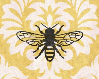 Bee Stamp: Wood Mounted Rubber Stamp
