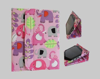 Galaxy Tab S2 Case, Fire HD 10 Case, Nexus 9 Case, Kindle Fire HDX 8.9 Case, Samsung Galaxy Tab 10.1, Nexus 10 Case Pink Elephants
