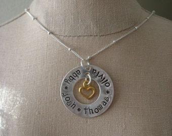 Eternity heart necklace