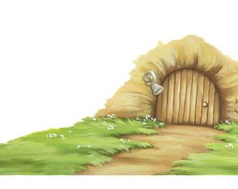 Fairy door decal fairy door decals fairy door wall decal fairy door wall  sc 1 st  Etsy & Fairy door sticker | Etsy