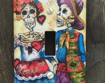 Single Switch Plate Cover Skeleton Couple #123