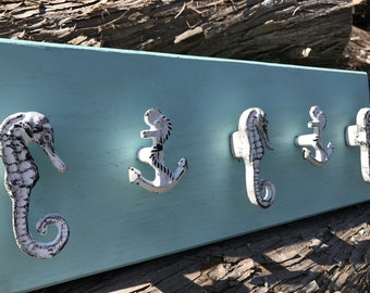 Ready to ship! Sea inspired necklace rack - wall mount necklace rack - jewelry storage - wall rack - coat rack