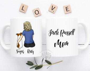 Jack Russell Mug, Jack Russell Terrier Mug, Jack Russell Mom, Personalized Jack Russell Mug, Gift For Dog Mom, Gift For Jack Russell Lover
