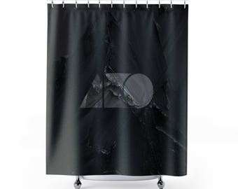 The New Black  Shower Curtains