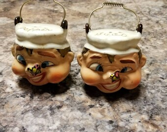 Butterfly on Face Salt &Pepper Shakers