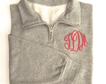 Monogram Quarter Zip Pullover,Monogram Pullover, Monogrammed Pullover, Quarter Zip Monogram Pullover, Monogram Sweatshirt, Bridesmaid Gift