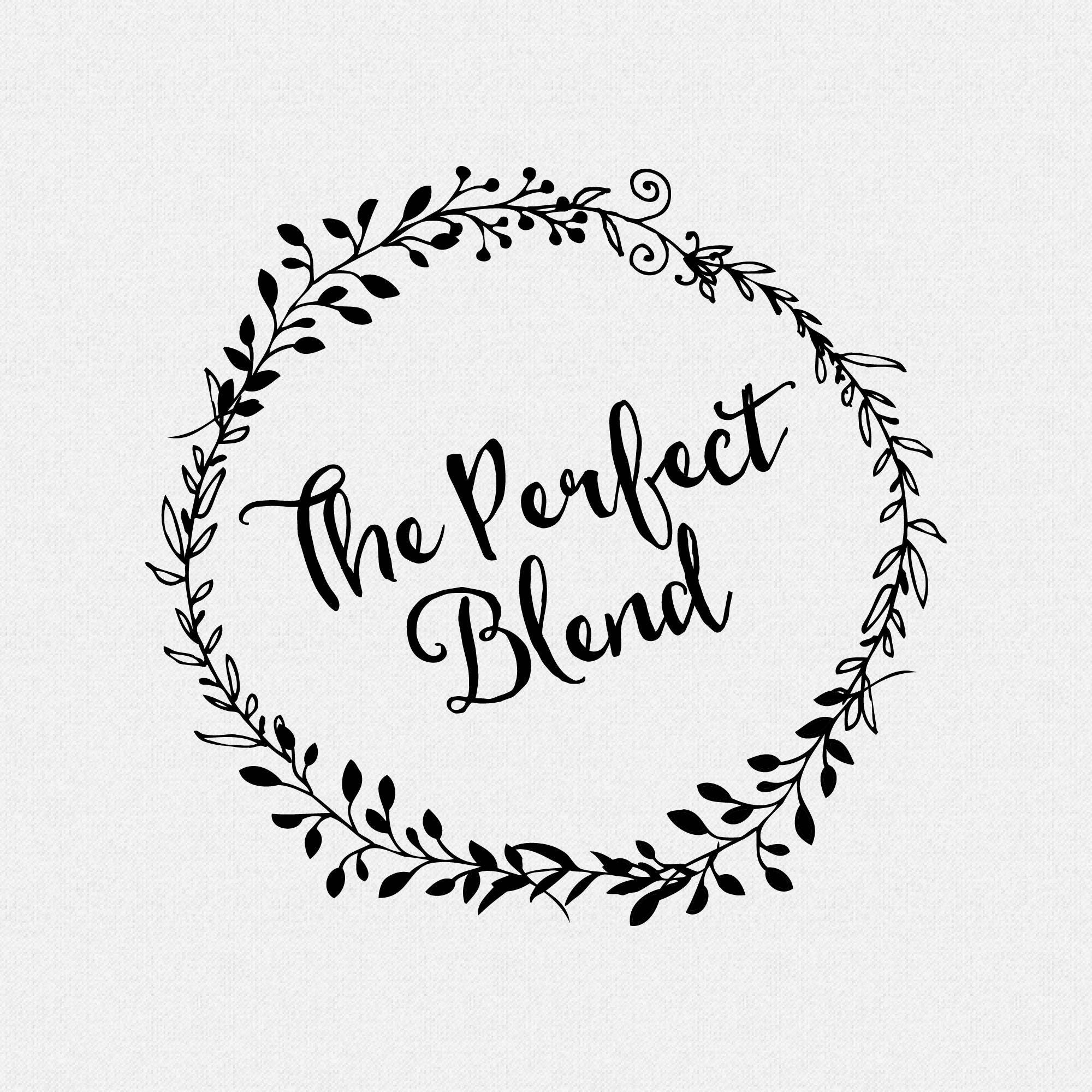 The Perfect Blend Stamp Coffee Wedding Favors Tea Bag Weddng