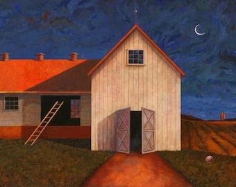 Tobacco Barn III Crescent Moon