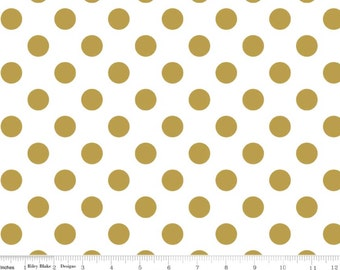 Sparkle Pearlized Cottons - Sparkle Gold Medium Dot from Riley Blake