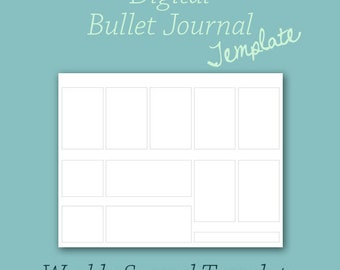 Weekly Planner Template for Digital Bullet Journal Planner
