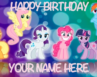 Birthday banner Personalized 4ft x 2 ft My Little Pony