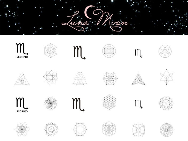 Scorpio Nail Decal / Zodiac / Astrology / Sacred Geometry / Nail ...