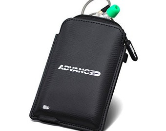 ADVANCED Power Pouch Carrying Case for Bluetooth Earphones 800mAh Power Bank MicroUSB Charger for Wireless Earbuds Ideal for Travel
