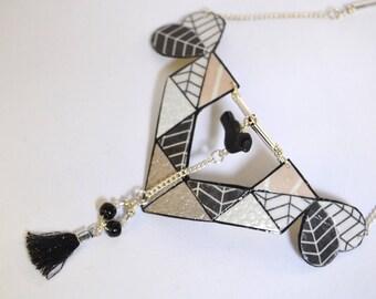 Origami bird Utari Ainu アイヌ necklace