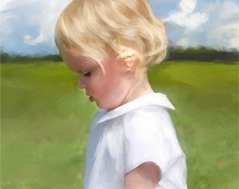 Baby Girl - Baby Boy - Kids Gift - Custom Painting - Custom Portrait - Personalized Art
