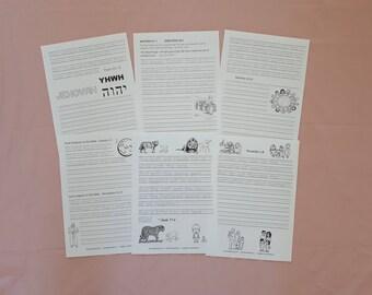 SPANISH 1Handwriting Scriptures from New World Translation for JW Children