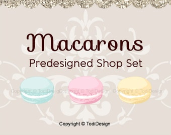 Macarons- PreDesigned Etsy Shop Banner set