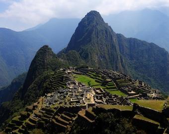 Inka Ceremonial site at Machu Picchu, Peru.