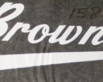 Cleveland Browns Iron On, Heat Transfer in white lettering