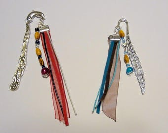 Gift idea - Bookmark handmade with wooden beads