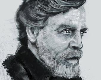 Mark Hammill Star Wars Art Print