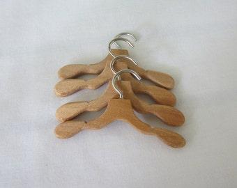 Doll clothes hangers.  Wood Doll Clothes Hangers for Blythe Barbie Ken - no accessory clips - set of 4