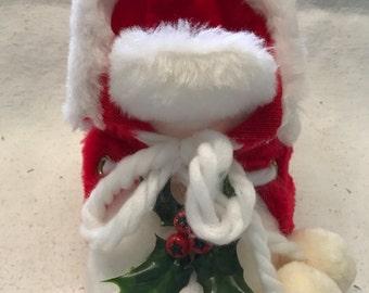 Vintage Santa Boot Trinket Or Goody Holder