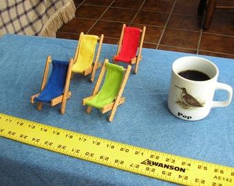 Miniature Barbie Sling Chairs