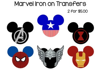 Disney iron on transfer - Marvel Superheros Iron on Transfers - DIGITAL DOWNLOAD