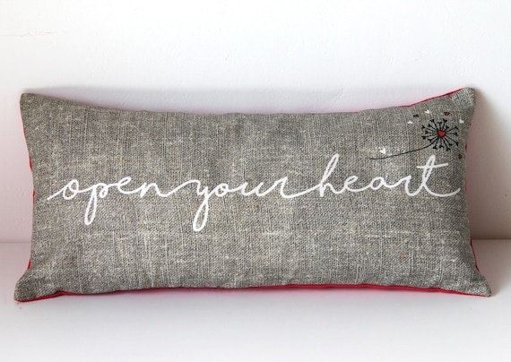 """Cushion for yoga and meditation """"Open your heart"""""""