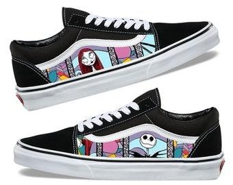 Nightmare Before Christmas Custom Shoes Custom Canvas Vans Old Skool
