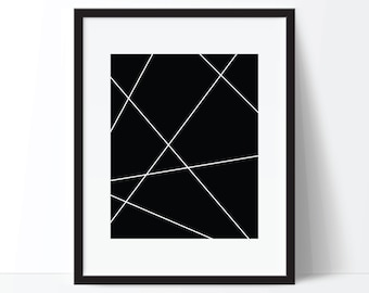 Geometric Print, Abstract Print, Modern Print, Minimalist Print, Black and White Art, Minimalist Art, Modern Printable, Modern Poster