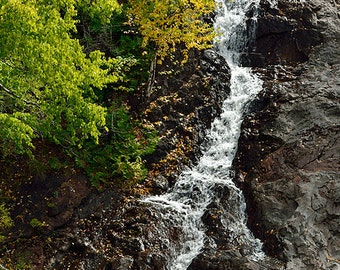 Eagle River Falls Panoramic -(2 to 1) - Michigan Photography