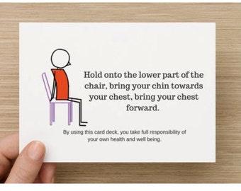 Airplane Yoga Card Deck