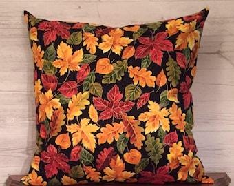Fall pillow - Fall decor - Autumn pillow - Leaf pillow - Autumn Decor - Seasonal pillow - Fall decorations - Throw pillow