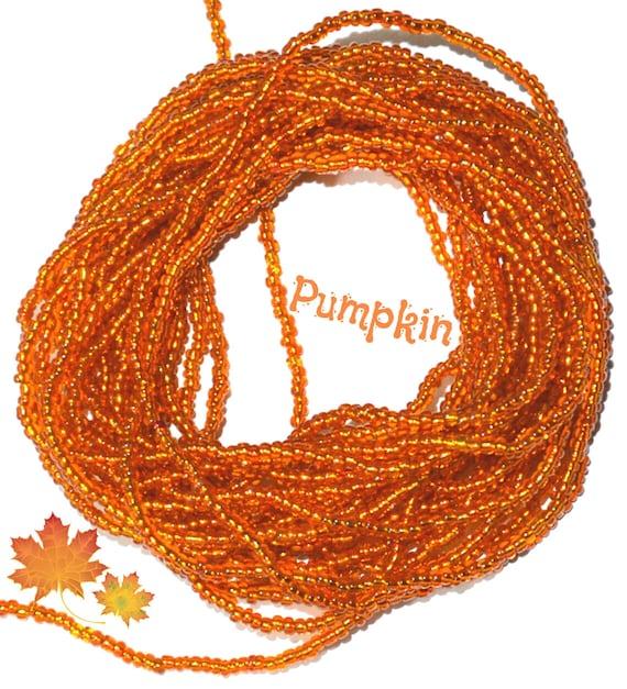 Waist Beads ~Pumpkin ~ YourWaistBeads.com