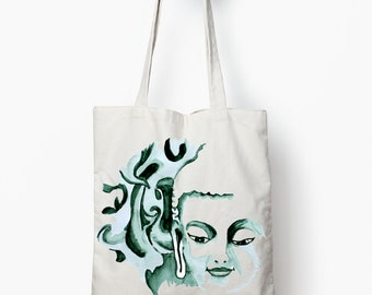 Buddha tote bag, book bag, Zen tote bag