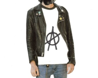 Original Art Collage, Anarchy Dog Gone Bad, Anarchist Dog, Punk Artwork