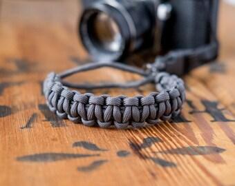 Camera Wrist Strap – Charcoal Gray / Gunmetal Clip – apmots - Sling Paracord Mirrorless DSLR Compact