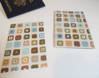 Passport Cover, Rounded Squares, Passport  Sleeve, Case, Holder