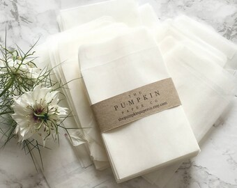 "100 Seed Envelopes Glassine Bags Glassine Envelopes Wedding Favor Envelopes Seed Packets Coin Envelopes 3.5/8x2.5/8"" 90x68mm approx"